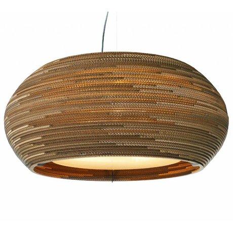Graypants Hængende lampe Ohio 32 pap, brun, Ø82x33cm