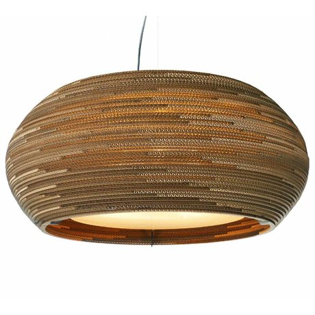 Graypants Hanging Lamp Ohio 32 cartone, marrone, Ø82x33cm