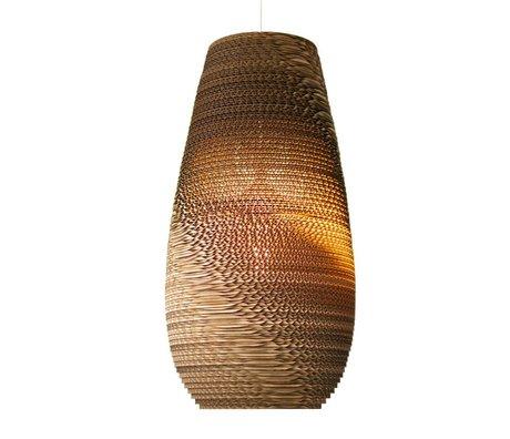 Graypants Colgante Gota Lámpara 18 de cartón, marrón, Ø25x45cm