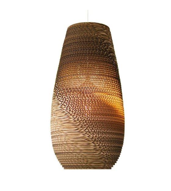 graypants h ngende lampe drop 18 pap brun 25x45cm. Black Bedroom Furniture Sets. Home Design Ideas