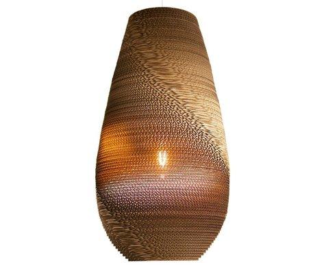 Graypants Colgante Gota Lámpara 26 de cartón, marrón, Ø36x65cm