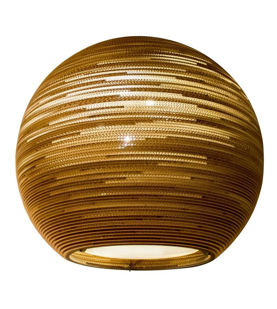 This Brown Lamp Made Of Recycled Cardboard Is A Real Eye Catcher! This Sun  Hanging Lamp Is Particularly Pleasant Light And Suitable For Home But Also  ...