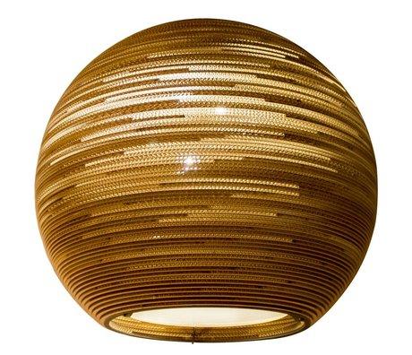 Graypants Colgando de cartón Lámpara Sun 48, marrón, Ø128x48cm