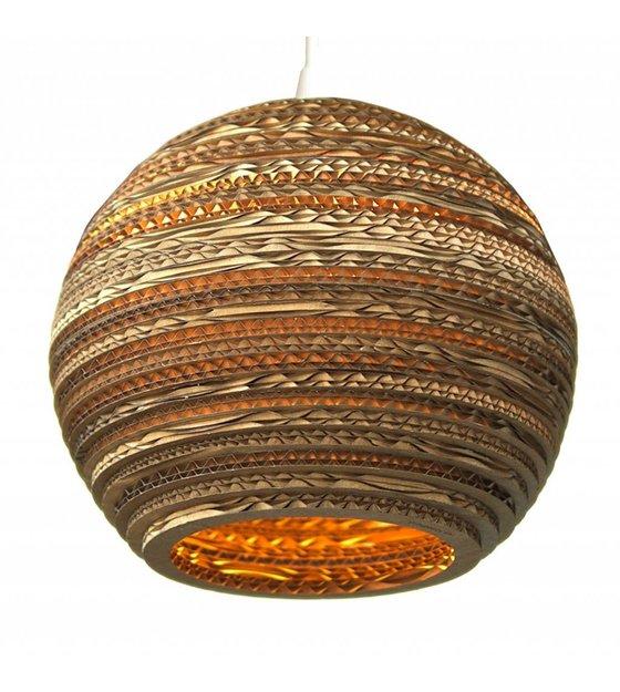 graypants hanging lamp moon 14 cardboard brown 36x31cm. Black Bedroom Furniture Sets. Home Design Ideas