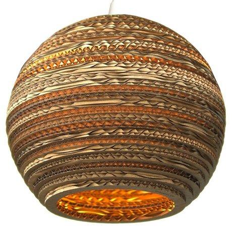 Graypants Hængende lampe Moon 18 pap, brun, Ø45x40cm