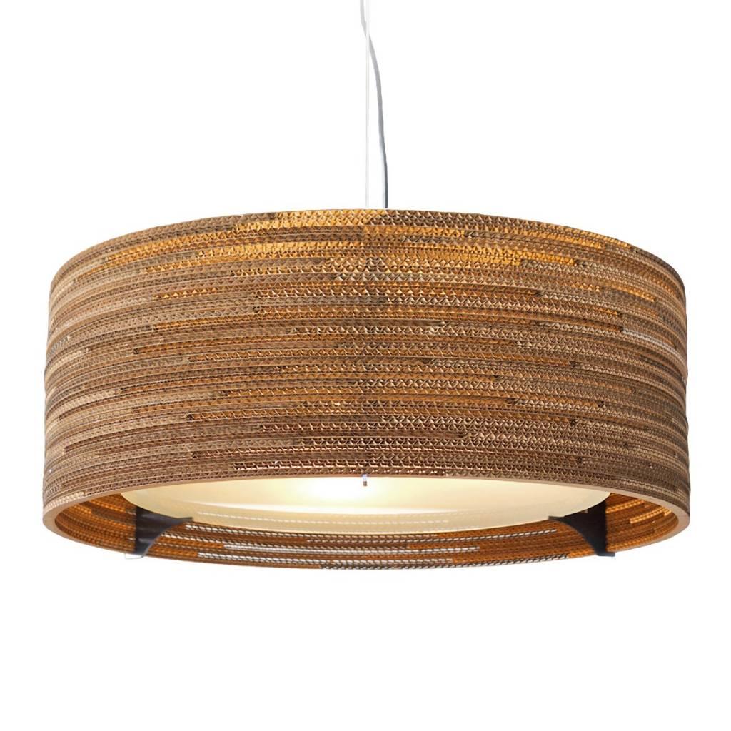 graypants h ngende lampe drum 24 pap brun 61x24cm. Black Bedroom Furniture Sets. Home Design Ideas
