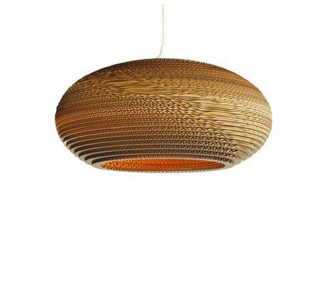 Graypants Lámpara colgante de disco 16 de cartón, marrón, Ø43x19cm