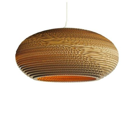 Graypants Hanging lamp Disc 16 cardboard, brown, Ø43x19cm