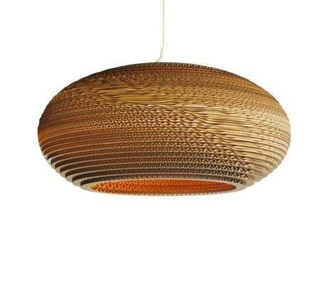 Graypants Hængende lampe Disc 20 pap, brun, Ø50x23cm