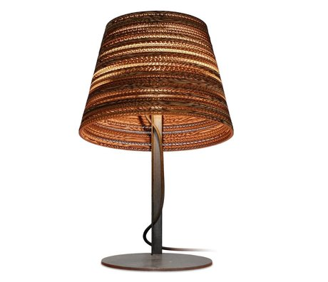 Graypants Tilt Lampe de table Table en carton, brun, Ø34x24xcm