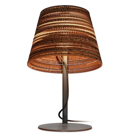 Graypants Basculante a Table Lamp di cartone, marrone, Ø34x24xcm