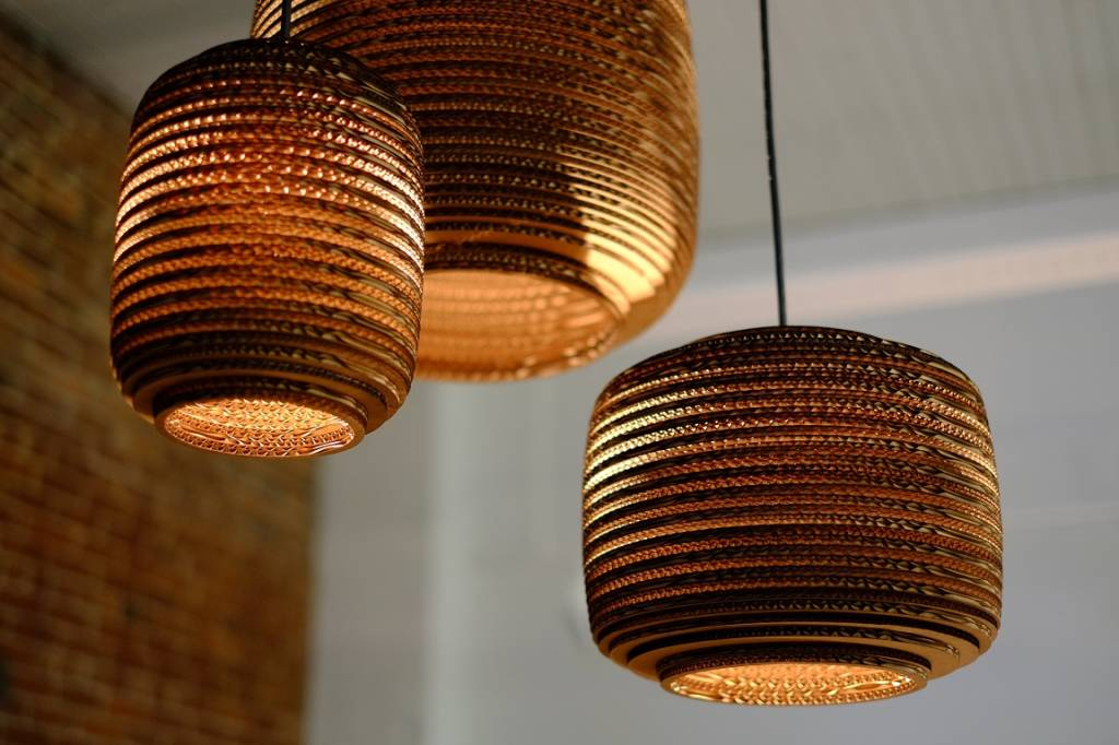Grey Pants Lampen : Graypants hanging lamp ausi of cardboard brown Ø cm