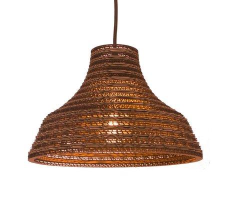 Graypants Hanging Lamp Trabajo 12 de cartón, marrón, Ø31x20cm