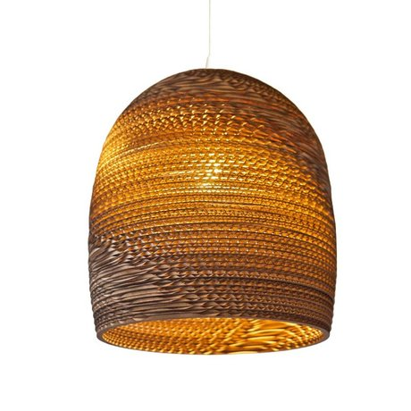 Graypants Hanging Lamp Bell 10 cardboard, brown, Ø27x28cm