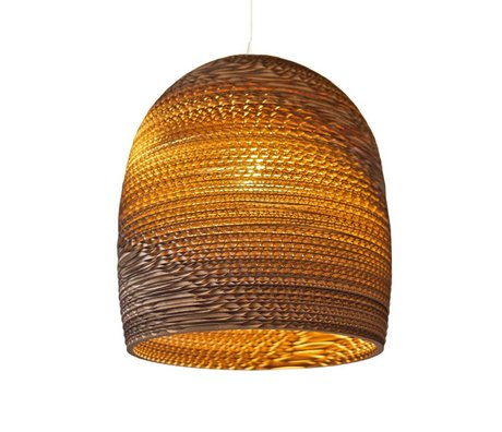 Graypants Hanging Lamp Bell 16 cardboard, brown, Ø38x40cm
