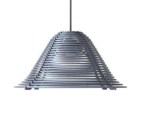 Graypants Hængende lampe Vela Aluminium, grå, Ø44x25cm