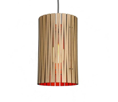 Graypants Hanging lamp Selwyn cardboard, orange, Ø18x32cm