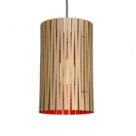 Graypants Hængende lampe Selwyn pap, orange, Ø18x32cm