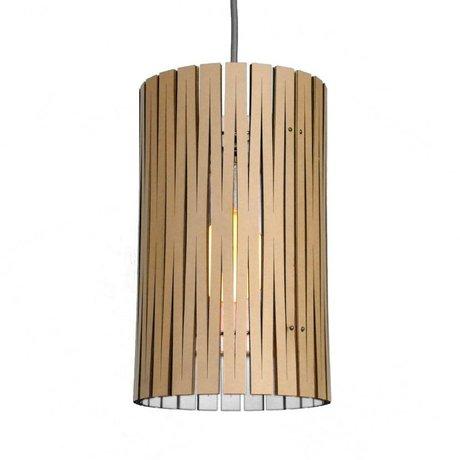 Graypants Hanging lamp Selwyn cardboard, white, Ø18x32cm