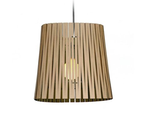 Graypants Ripley hanging lamp made of cardboard, black, Ø29x31cm