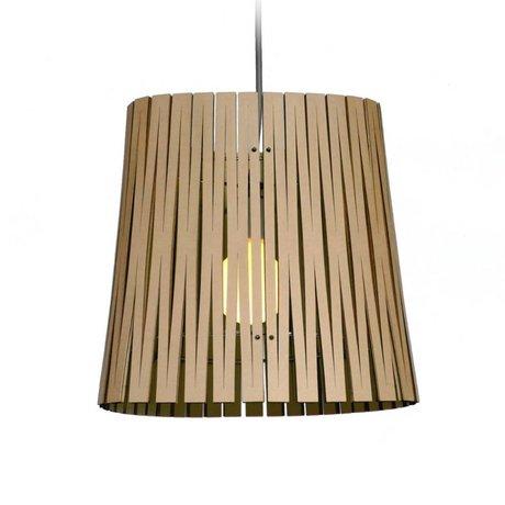 Graypants Lampe suspendue Ripley en carton, noir, Ø29x31cm