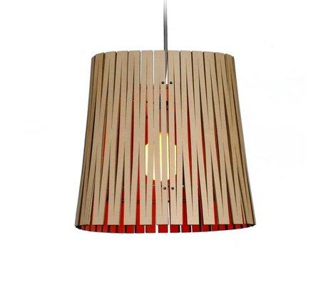 Graypants Lampe suspendue Ripley en carton, orange, Ø29x31cm