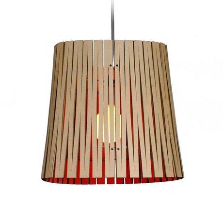 Graypants Ripley hængende lampe lavet af pap, orange, Ø29x31cm