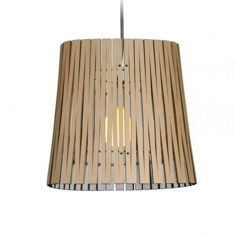 Graypants Lampe suspendue Ripley en carton, blanc, Ø29x31cm