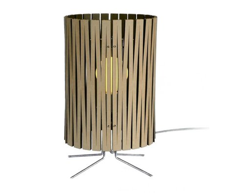 Graypants Palmer table lamp made of cardboard, black, Ø21x39cm