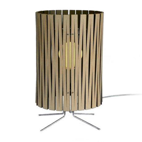 Graypants Lámpara de mesa de Palmer de cartón, negro, Ø21x39cm