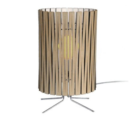 Graypants Palmer table lamp made of cardboard, white, Ø21x39cm