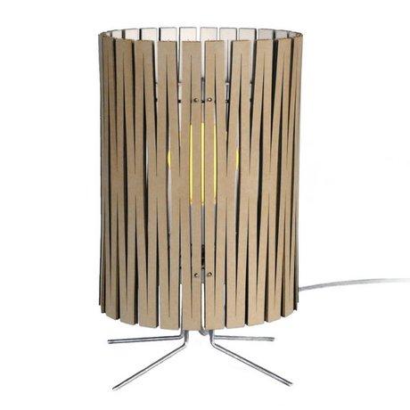 Graypants Lámpara de mesa de Palmer de cartón, blanco, Ø21x39cm