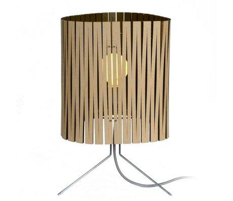 Graypants Lámpara de mesa Leland hecho de cartón, negro, Ø26x47cm