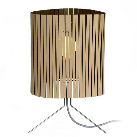 Graypants Lampe de table Leland en carton, noir, Ø26x47cm