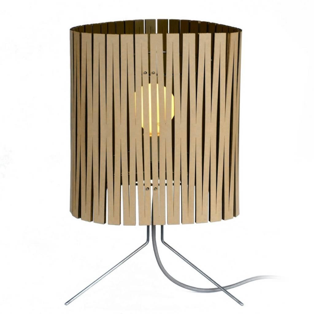 Graypants Leland table lamp made of cardboard, black ...