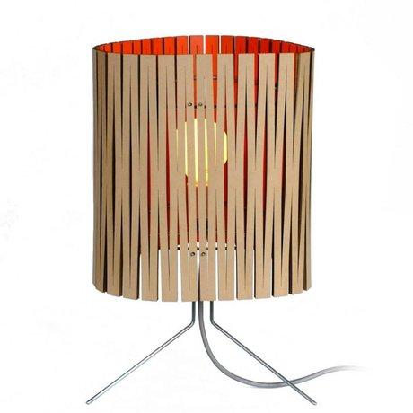 Graypants Lámpara de mesa Leland hecho de cartón, de color naranja, Ø26x47cm