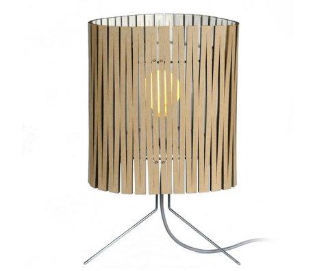 Graypants Lámpara de mesa Leland hecho de cartón, blanco, Ø26x47cm