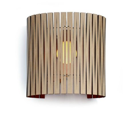 Graypants Wall lamp Rita cardboard, black, Ø30x32cm