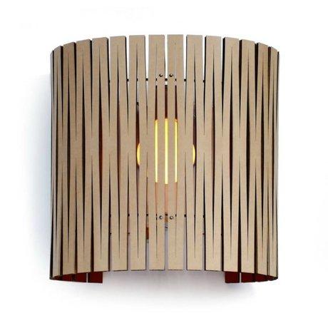 Graypants Lámpara de pared Rita cartón, negro, Ø30x32cm