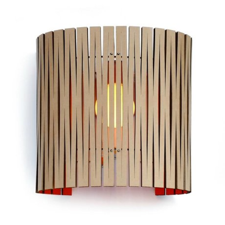 Graypants Wall lamp Rita cardboard, orange, Ø30x32cm