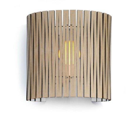 Graypants Wall lamp Rita cardboard, white, Ø30x32cm