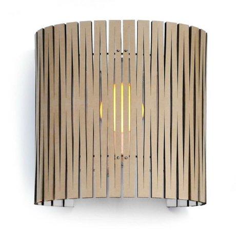 Graypants Lámpara de pared Rita cartón, blanco, Ø30x32cm