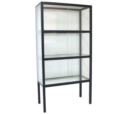 HK-living Vetro Vetrina / legno 75x36x148cm nero