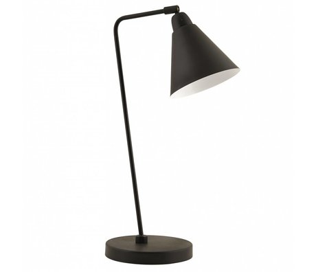 Housedoctor Metal table lamp, black / white, H50cm