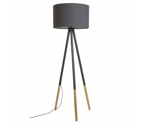 Zuiver Lámpara de pie de la montaña de metal / madera Ø53xH155cm gris oscuro