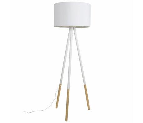 Zuiver Floorlamp Highland metal / ahşap, beyaz Ø53xH155cm