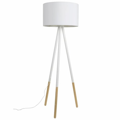Zuiver Floorlamp Highland metallo / legno bianco Ø53xH155cm