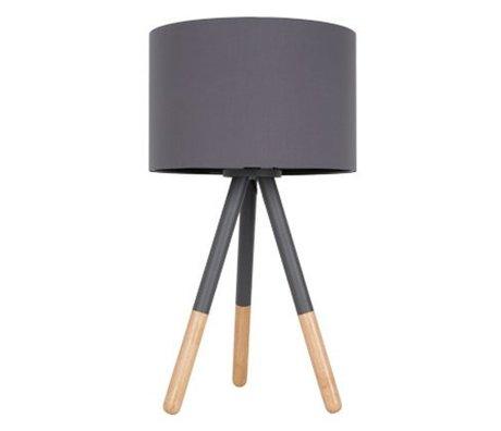 Zuiver Lampe de table Highland métal / bois Ø30xH54cm gris foncé