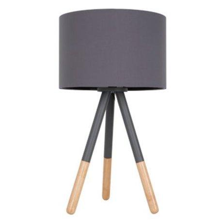 Zuiver Table lamp Highland metal / wood dark gray Ø30xH54cm