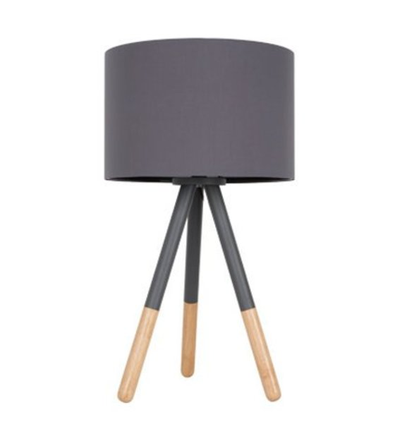 zuiver table lamp highland metal wood dark gray 30xh54cm. Black Bedroom Furniture Sets. Home Design Ideas